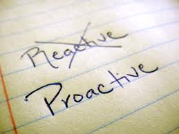 Pro-active, re-active 2